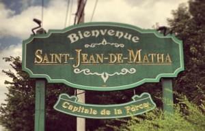 Panneau, Saint-Jean-de-Matha, Québec