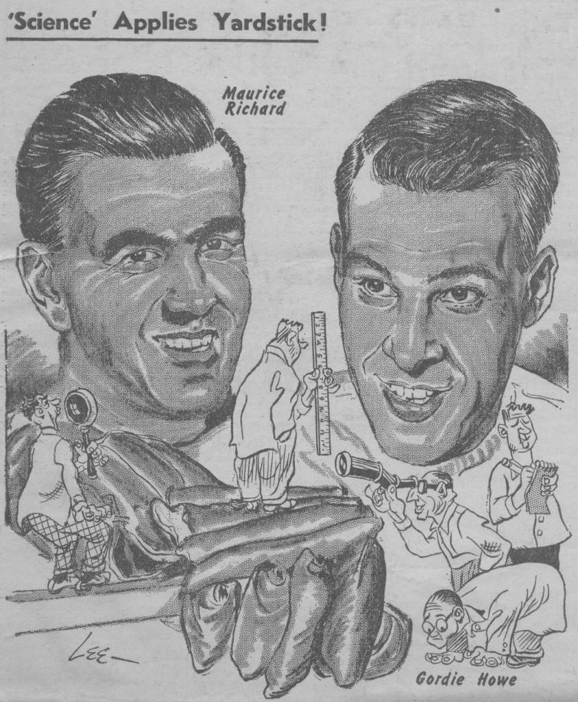 Caricature parue dans The Hockey News le 24 février 1951, p. 5