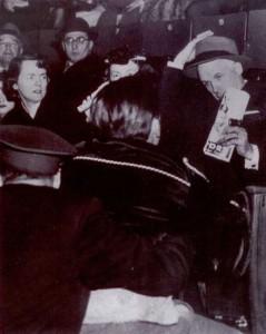 Clarence Campbell, Forum de Montréal, 17 mars 1955