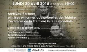 Affiche de la conférence du 20 avril 2015