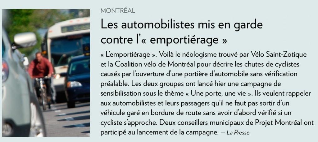 Emportiérage (laPresse+, 6 avril 2014)