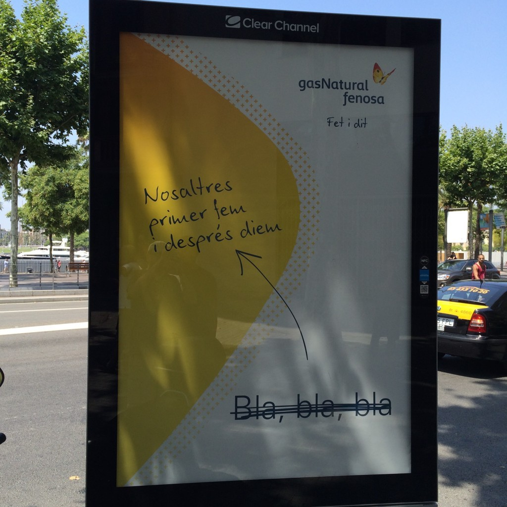 Barcelone, juillet 2015, publicité