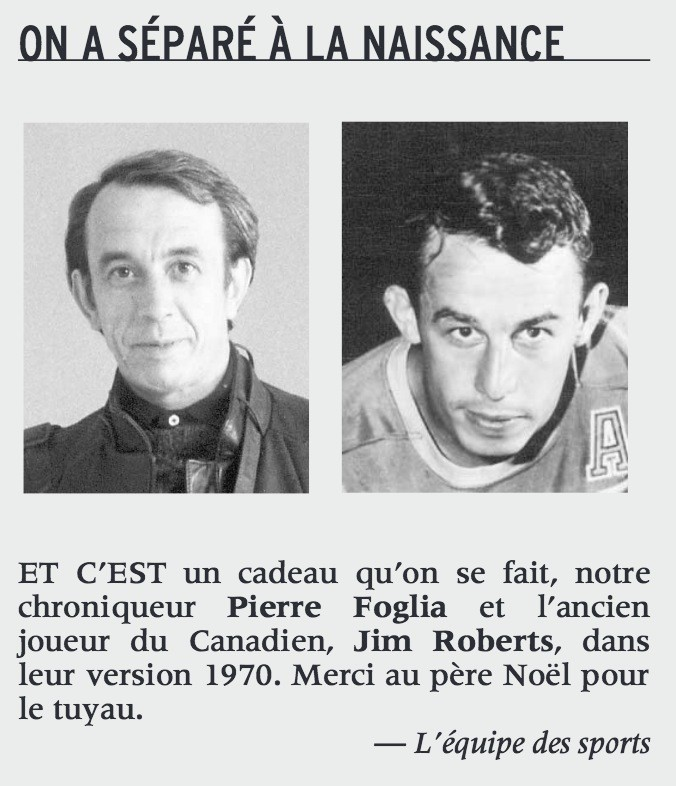 Pierre Foglia et Jim Roberts