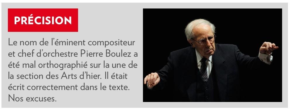 «Précision» parue dans la Presse+ du 8 janvier 2015