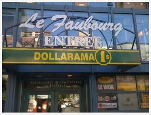 Boutique Dollarama, rue Sainte-Catherine, Montréal, 6 septembre 2009