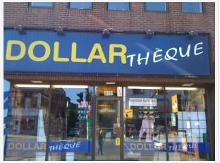 Magasin Dollarthèque, chemin de la Côte-des-Neiges, Montréal, 6 septembre 2009