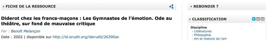 Le bouton Rebondir du site rechercheisidore.fr