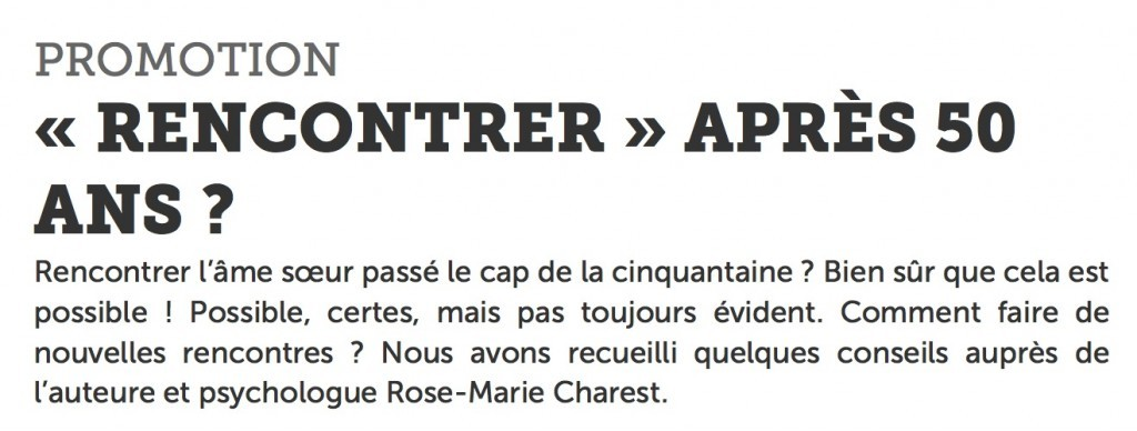 «Rencontrer», selon la Presse+