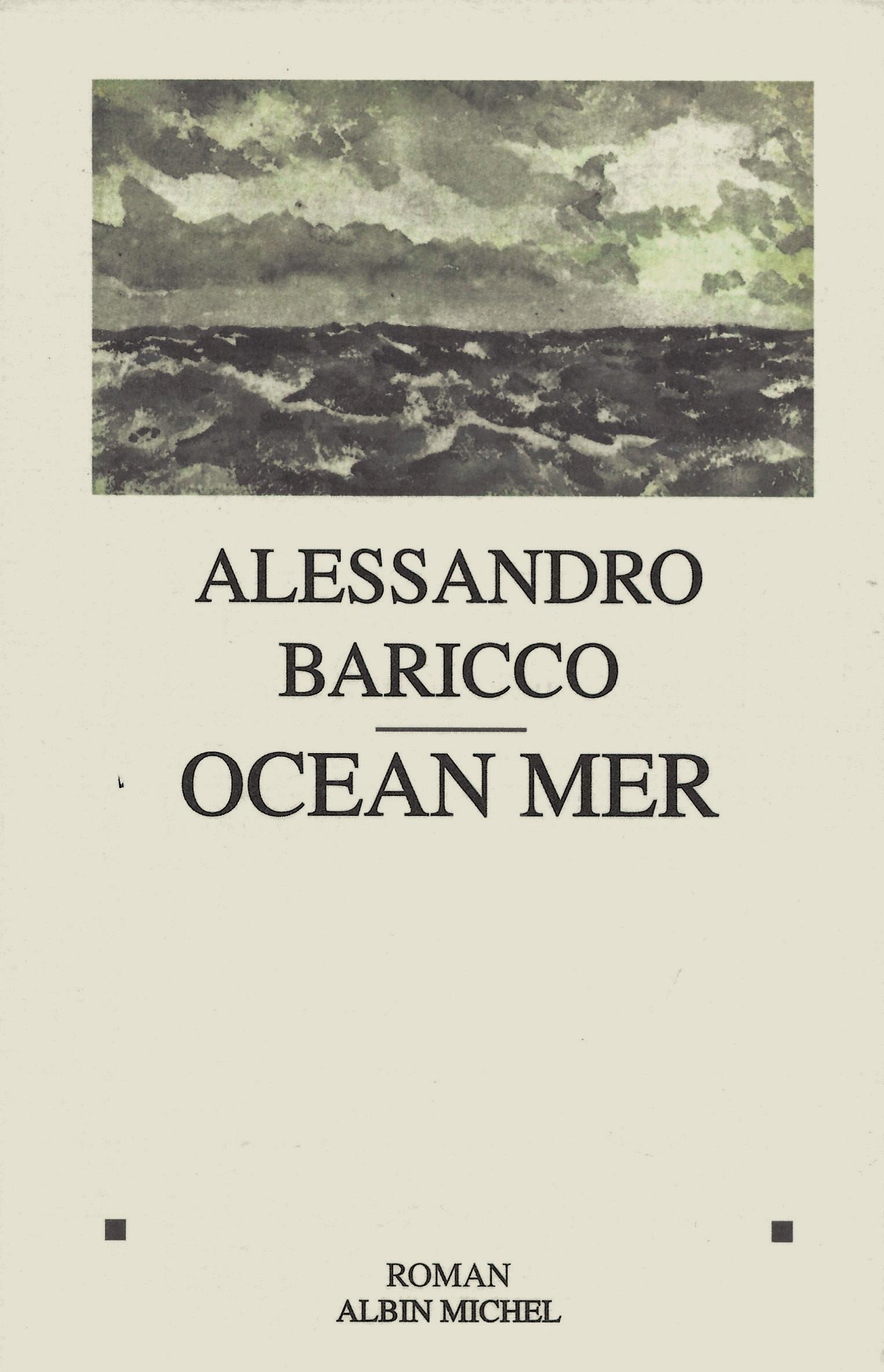 Alessandro Baricco, Océan mer, 1998, couverture
