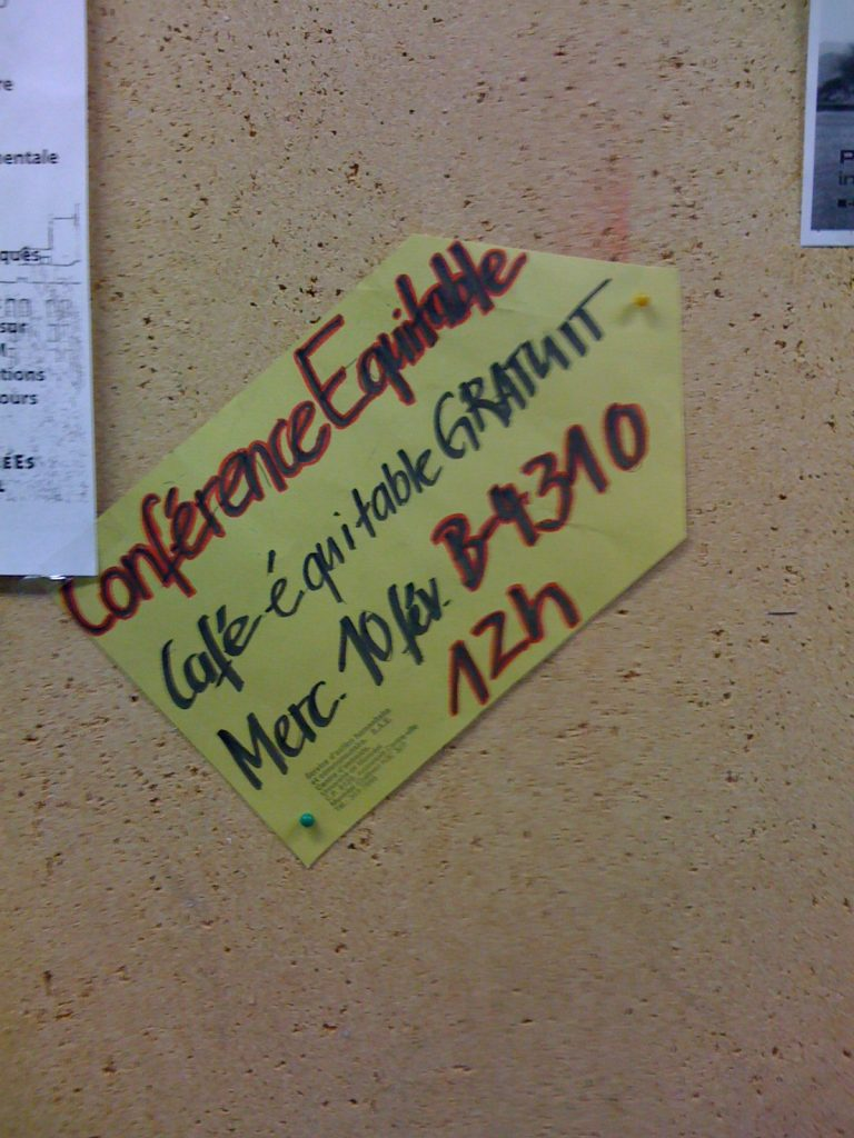 Une «conférence équitable», affiche