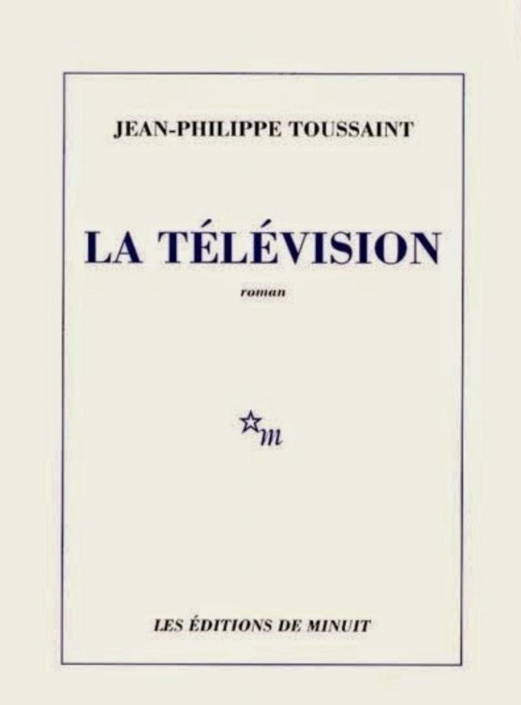 Jean-Philippe Toussaint, la Télévision, 1997, couverture