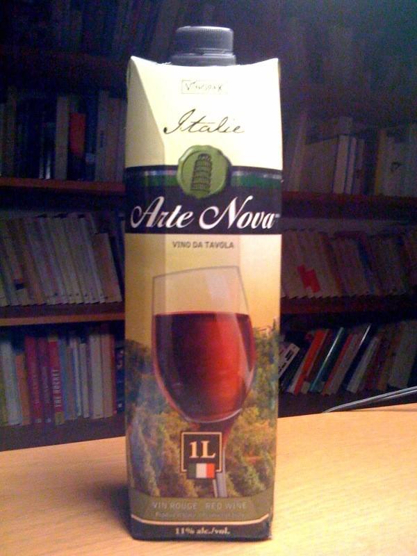 Arte Nova, Vinopack, contenant