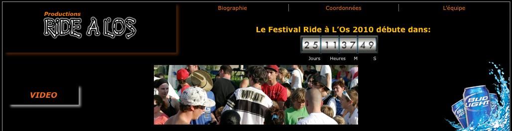 Productions Ride à l'os, Mont-Tremblant, 2010, publicité