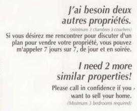 Agence immobilière, Montréal, juillet 2010, publicité