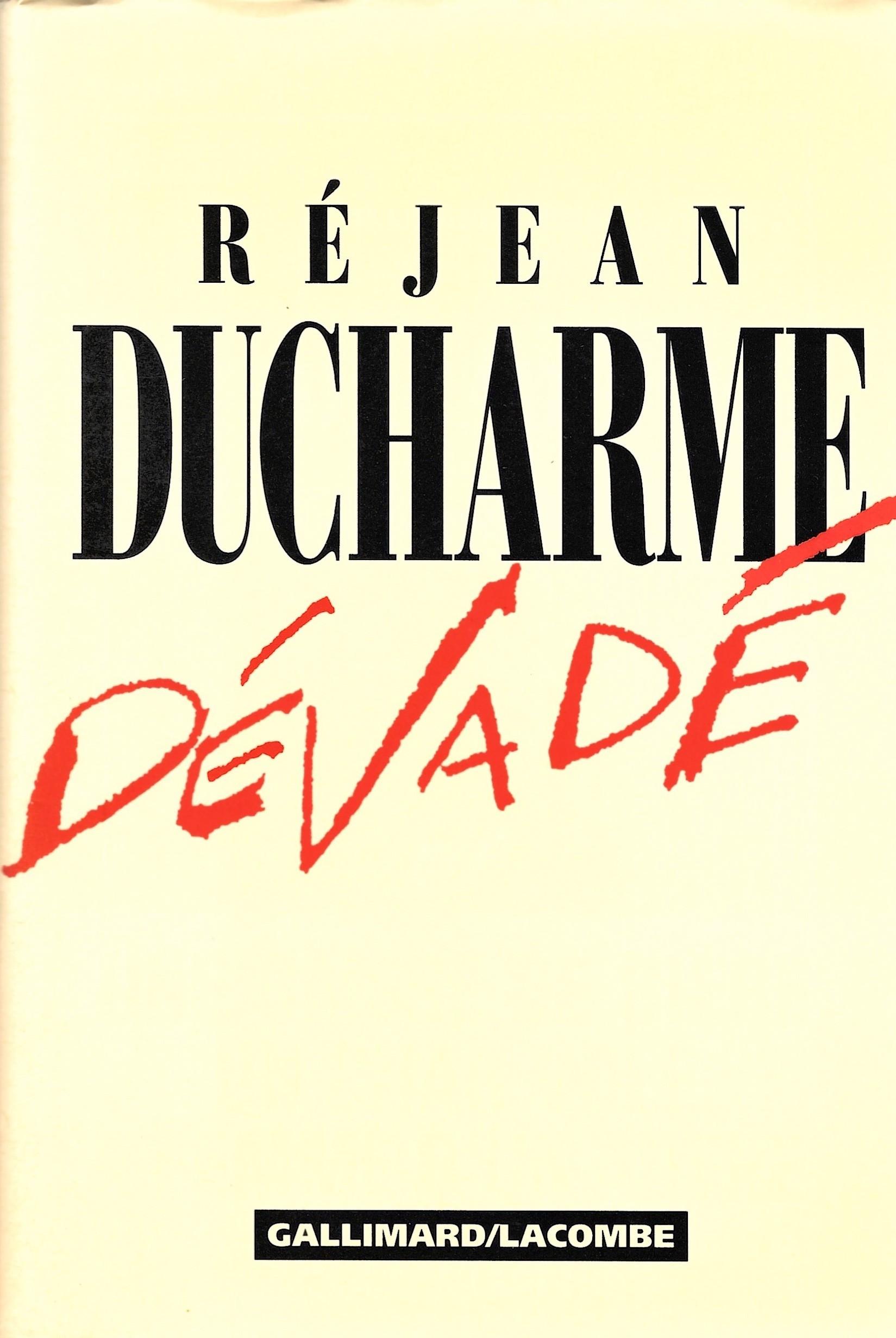 Réjean Ducharme, Dévadé, 1990, couverture