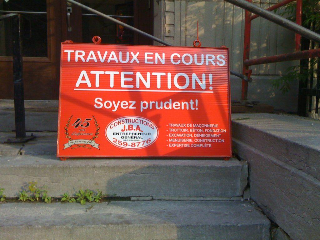 Montréal, juillet 2010, mise en garde