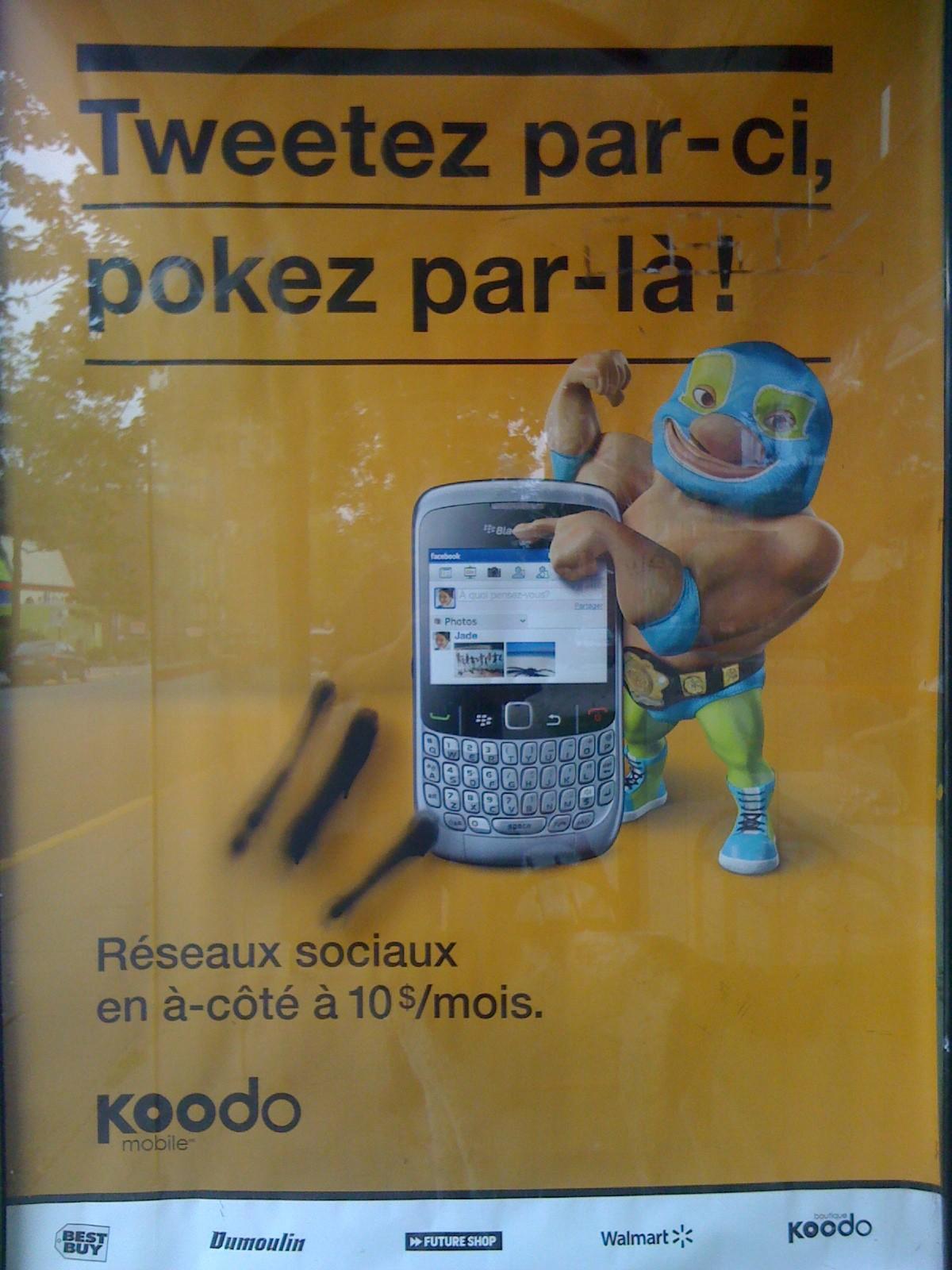 Publicité Koodo, 2010