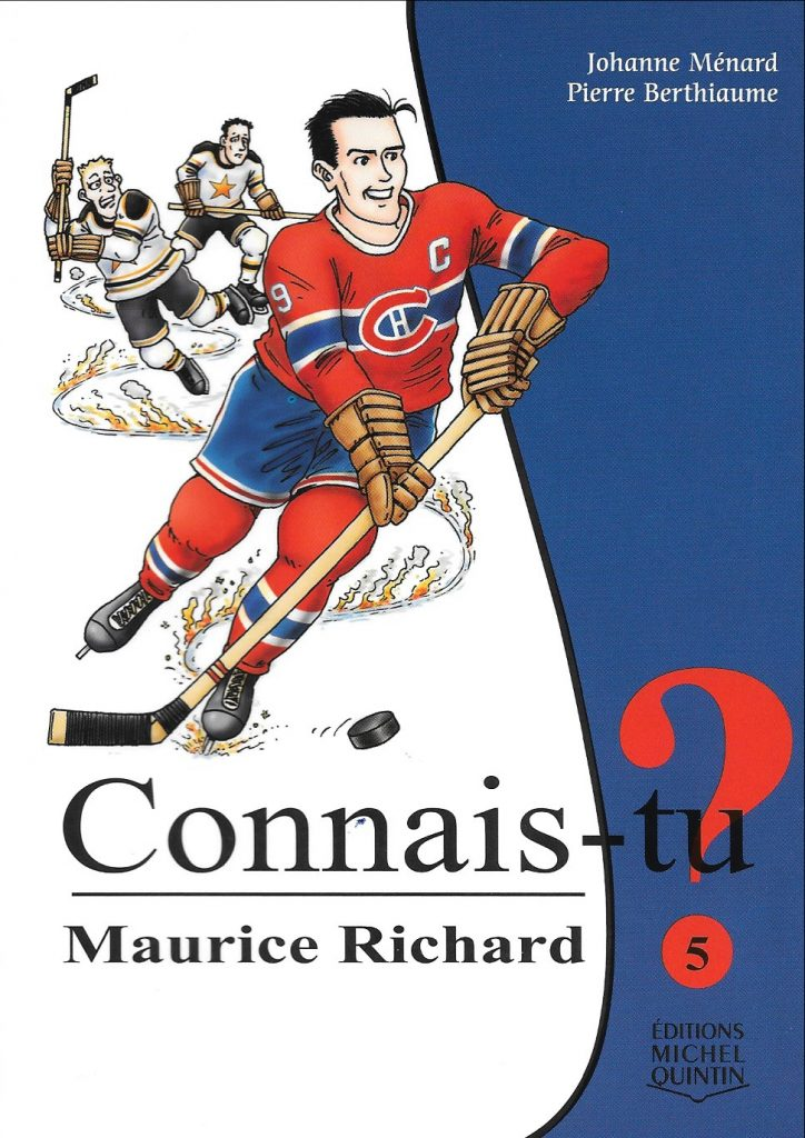 Johanne Ménard, Connais-tu Maurice Richard ?, 2010, couverture