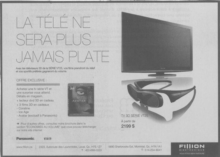 «La télé ne sera plus jamais plate», publicité, 2010