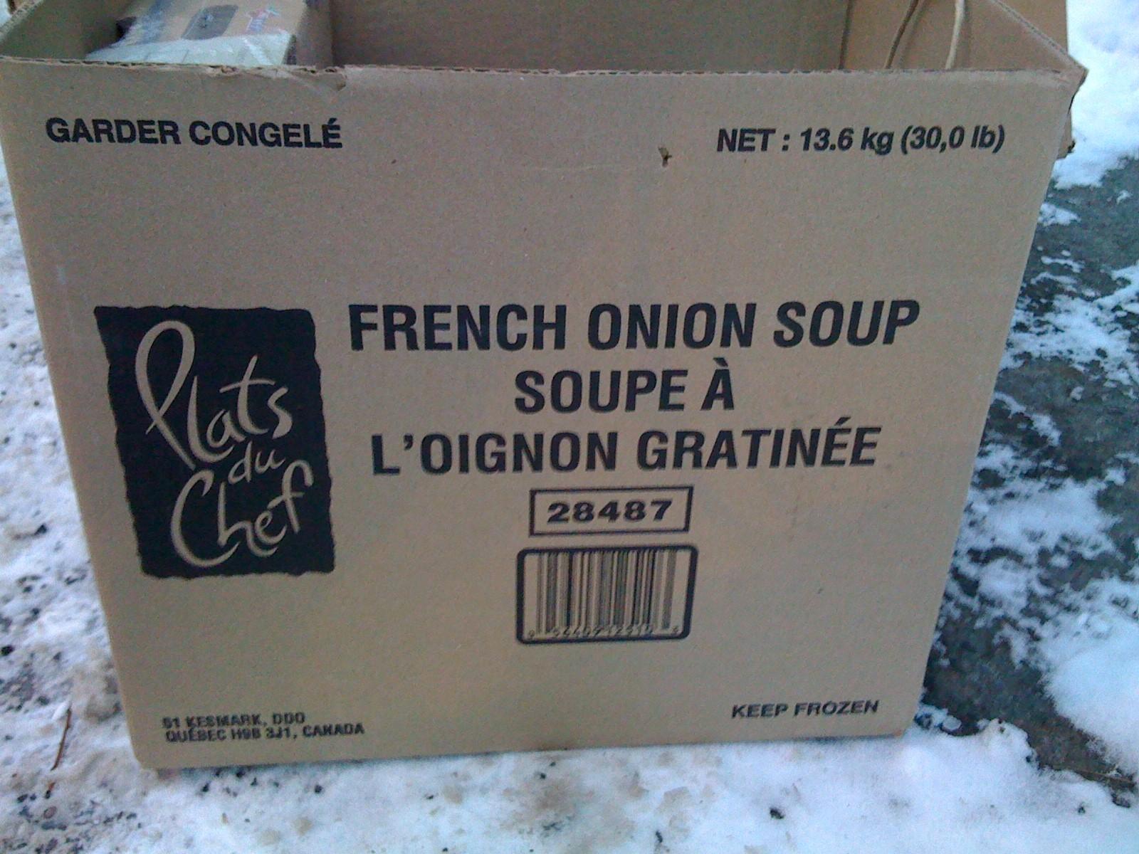 Boîte de soupe à l'oignon