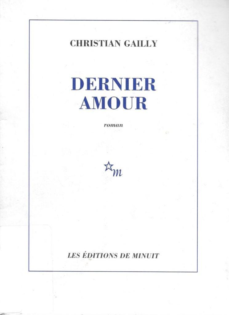 Christian Gailly, Dernier amour, 2004, couverture