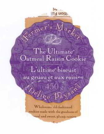 Biscuit «ultime», étiquette