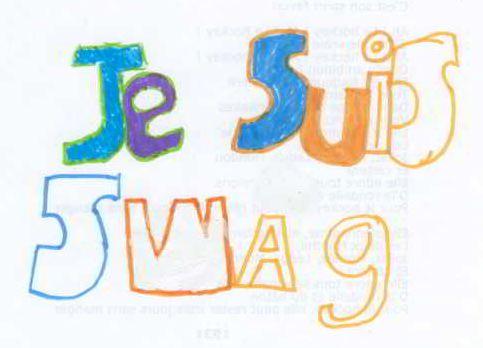 «Je suis swag», dessin