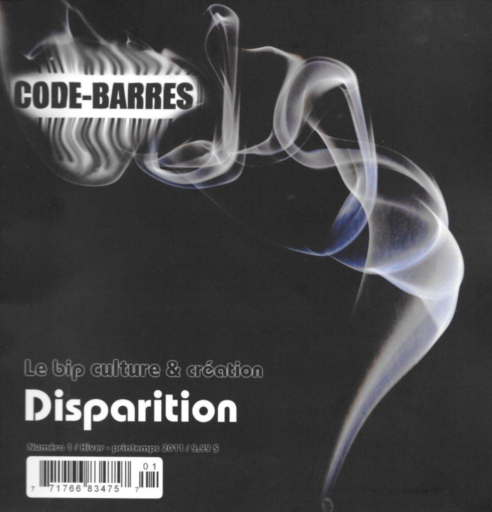 Code-barres, 1, hiver-printemps 2011, couverture