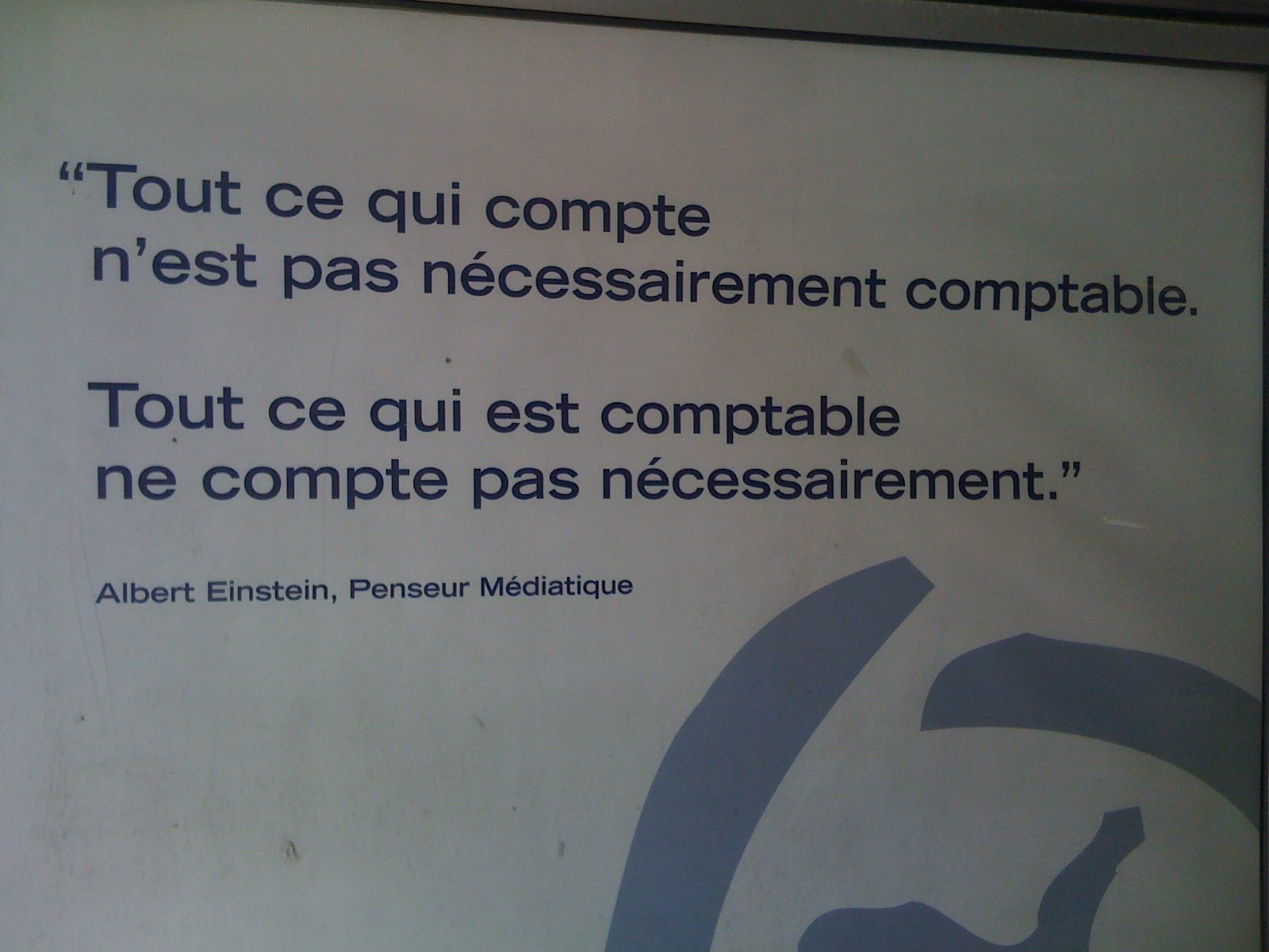 Citation de Einstein, Montréal, 2011