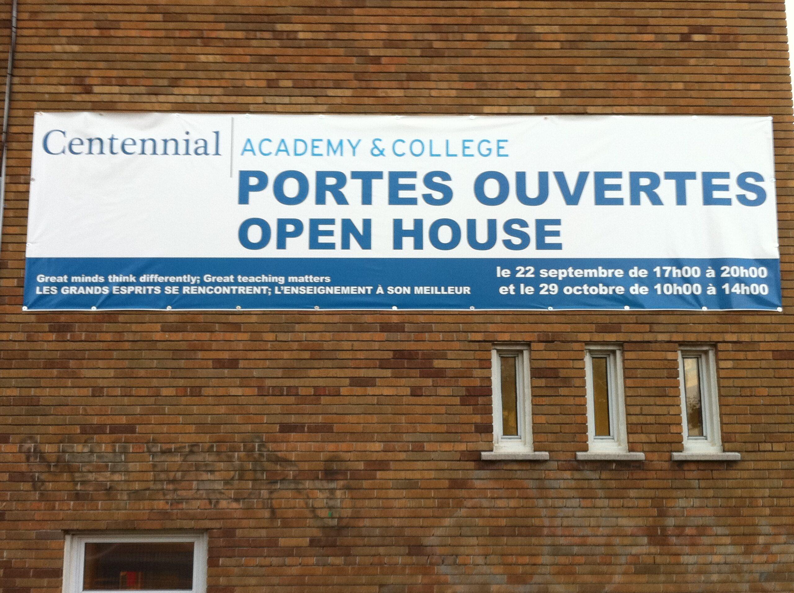Académie centennale / Centennial Academy, bannière publicitaire, 2011