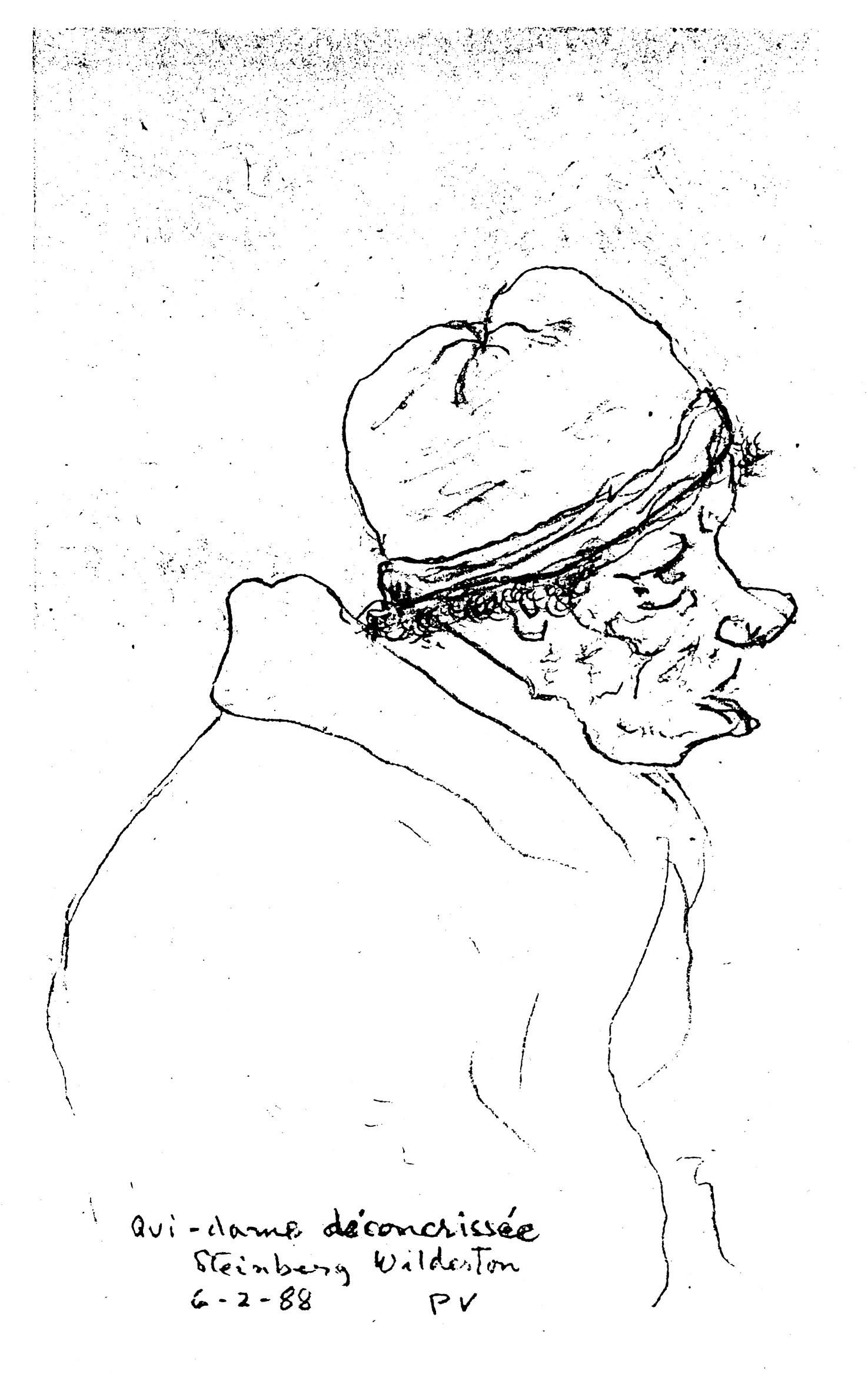 Pierre Vadeboncoeur, croquis