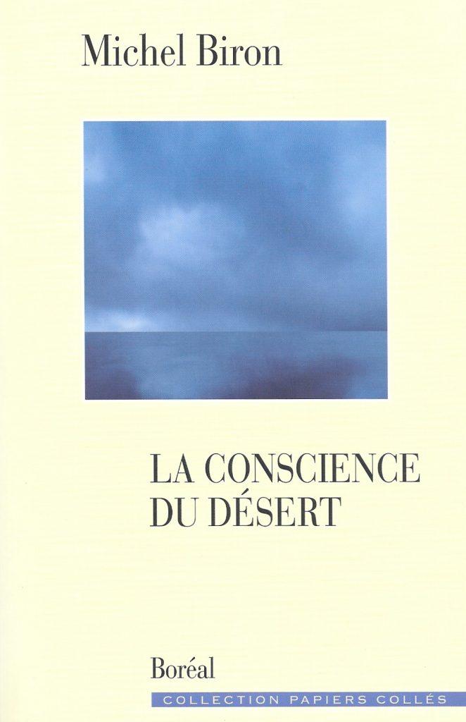 Michel Biron, la Conscience du désert, 2010, couverture