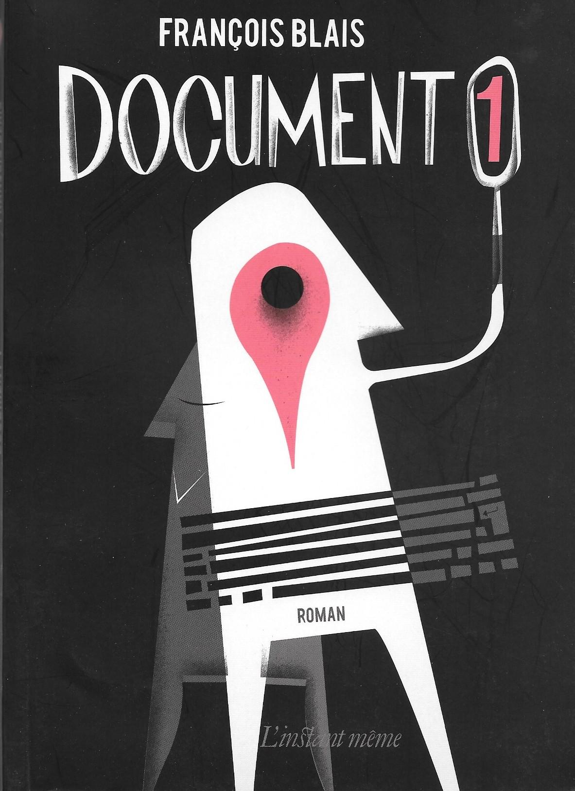 François Blais, Document 1, 2012, couverture