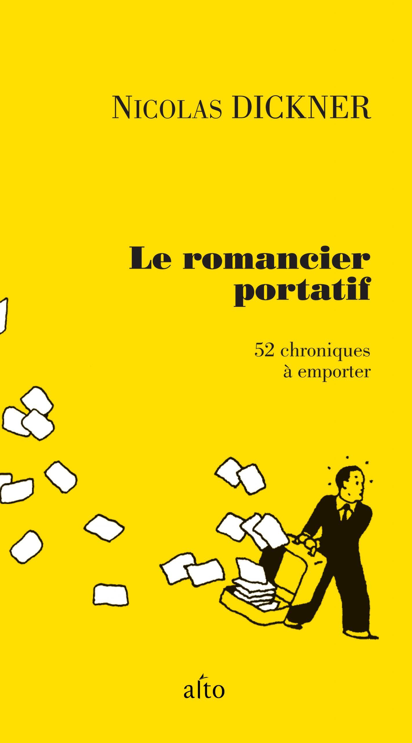 Nicolas Dickner, le Romancier portatif, 2011, couverture