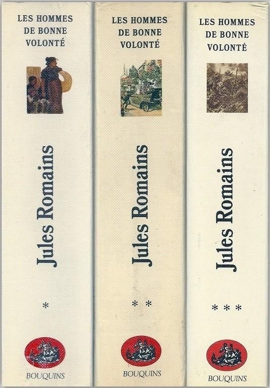 Jules Romains, les Hommes de bonne volonté, 3 vol. éd. «Bouquins»