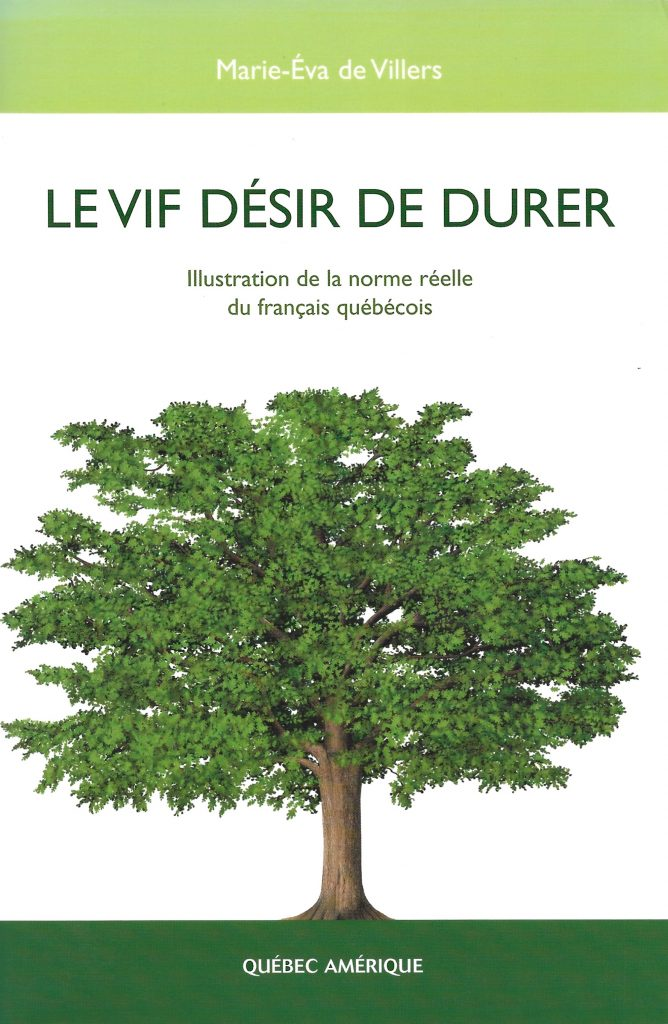 Marie-Éva de Villers, le Vif Désir de durer, 2005, couverture