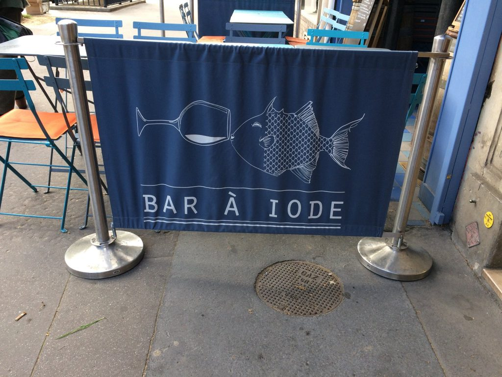 Bar à iode, Paris, avril 2018