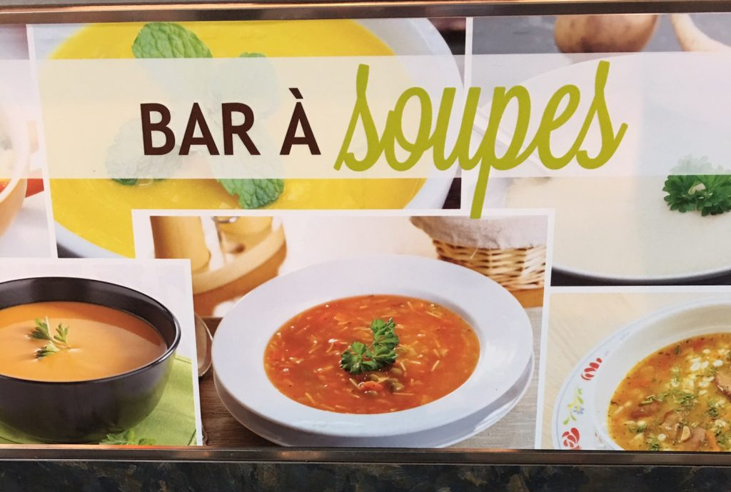 Bar à soupes, rue René-Lévesque, Montréal, octobre 2016