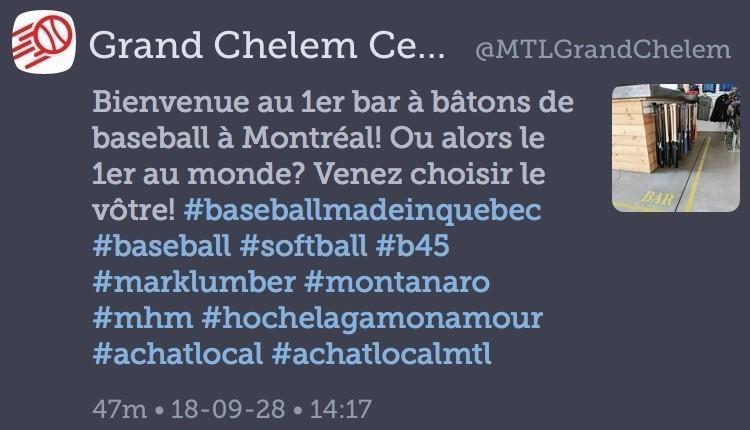 Bar à bâtons de baseball, Montréal