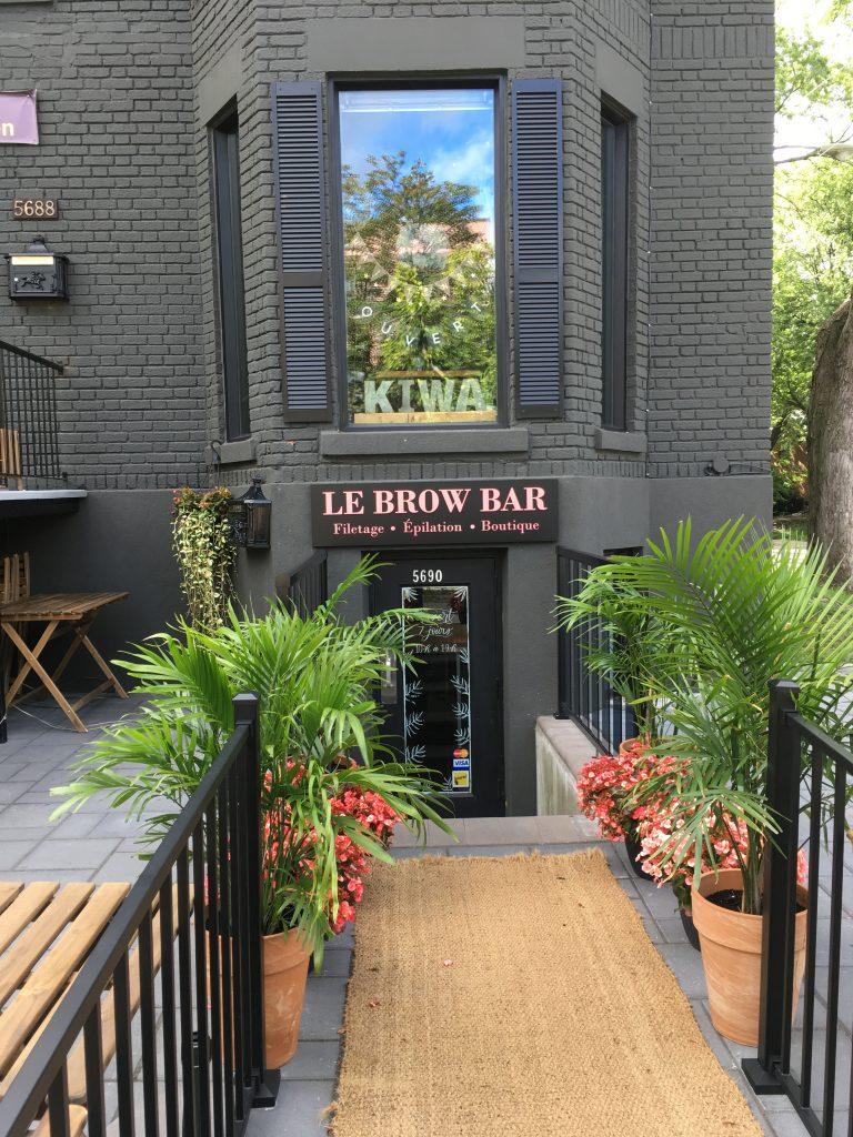 Le brow bar, avenue Monkland, Montréal, août 2017