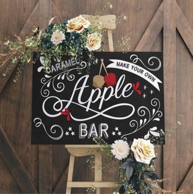 Bar à caramel et à pomme