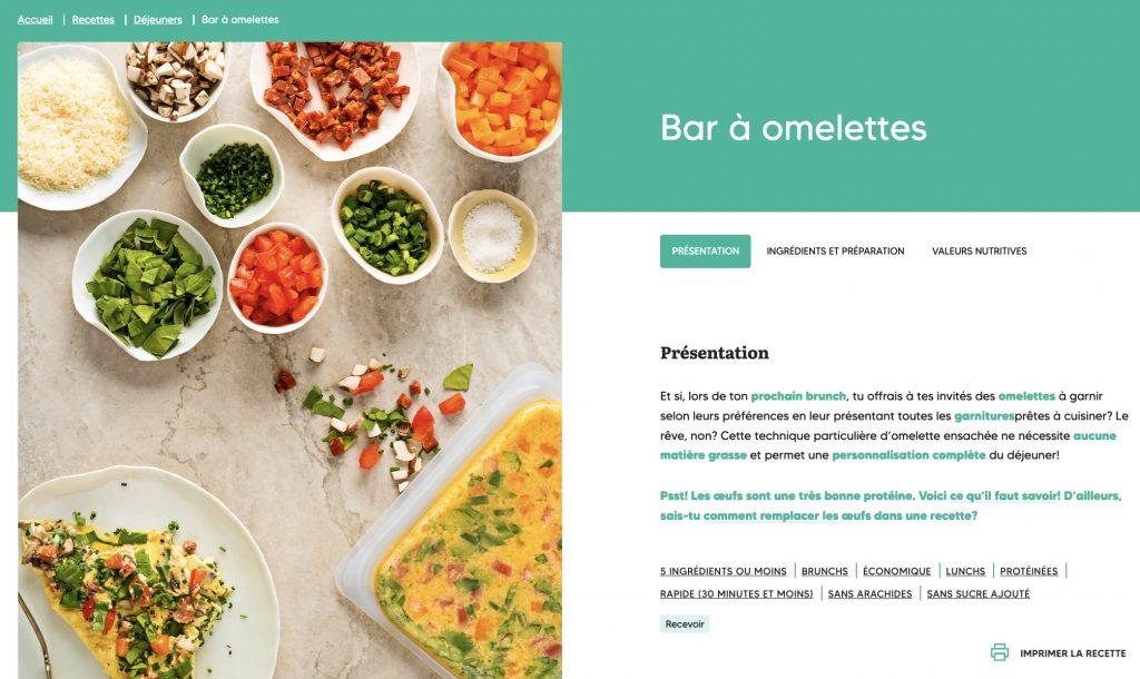 Bar à omelettes