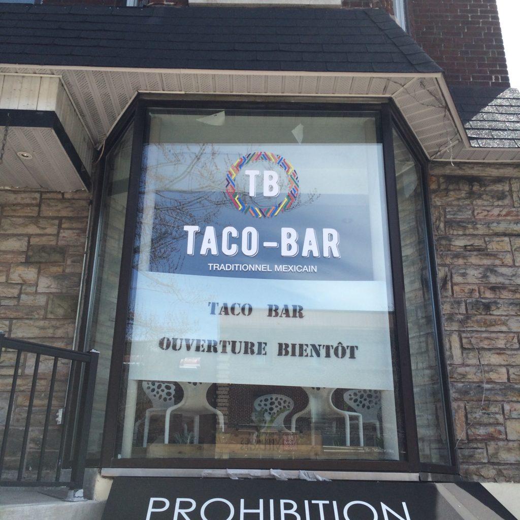 Taco bar, avenue Monkland, Montréal, 29 avril 2016
