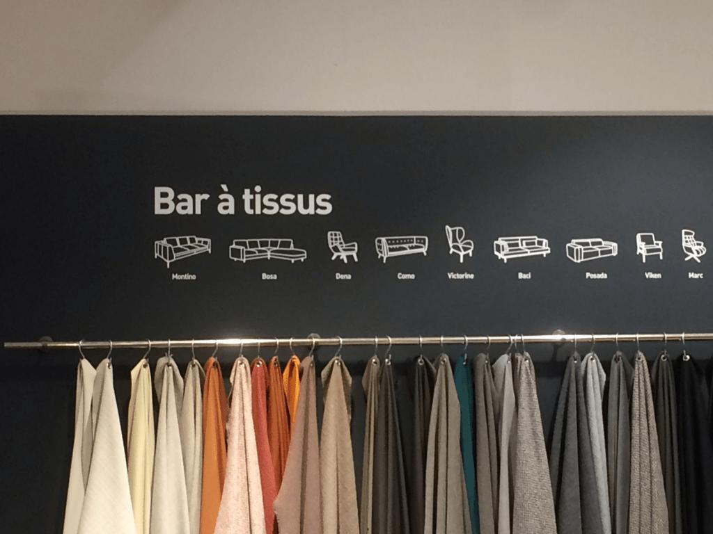 Bar à tissus, Habitat Pont-Neuf, Paris, 2018