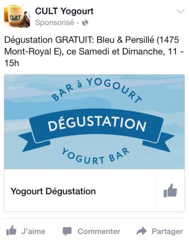 Bar à yogourt
