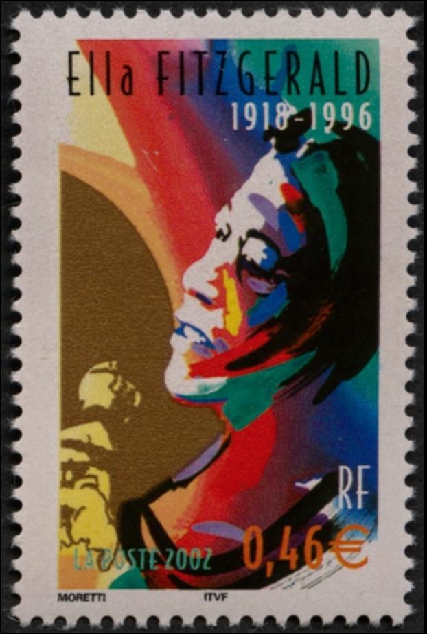 Timbre-poste Ella Fitzgerald