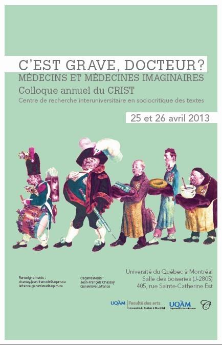 Colloque, CRIST, UQAM, 25-26 avril 2013
