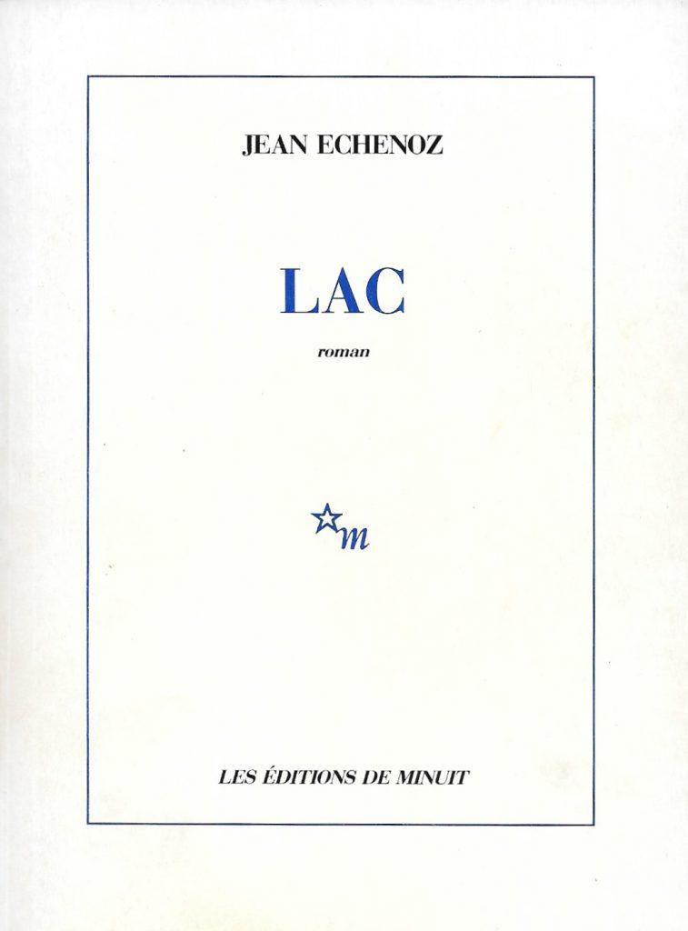 Jean Echenoz, Lac, 1989, couverture