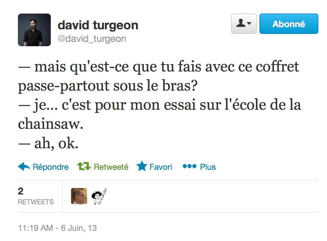 David Turgeon, Twitter