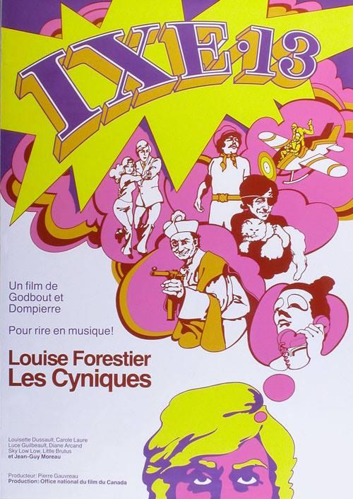 Jacques Godbout, IXE-13, film, 1971, affiche